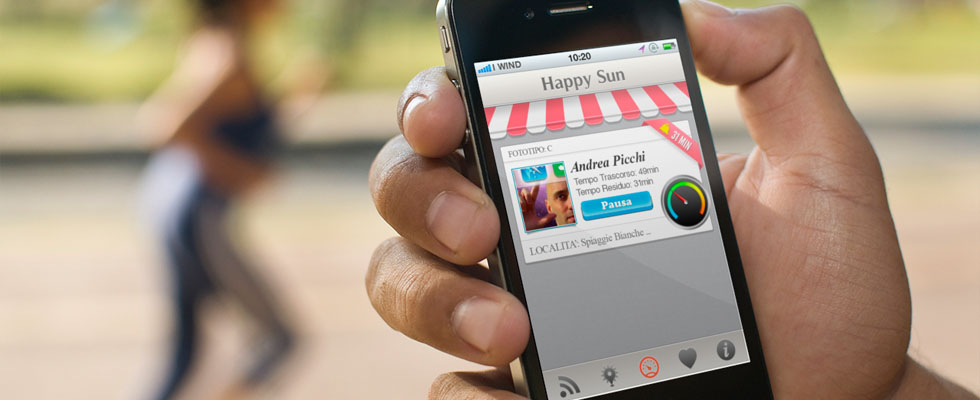 Mobile UX-UI Design Happy Sun iOS App